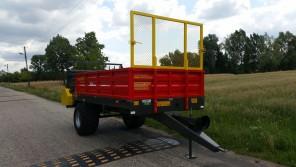 Rozrzutnik obornika Jednoosiowy MR600; ładowność 6000 kg